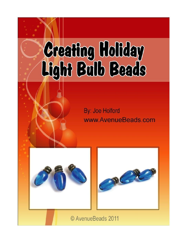 lampwork christmas light bead tutorial