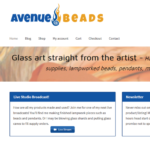 avenue beads website screen capture