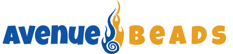 avenuebeads logo with flame in center