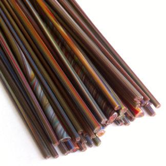 rainbow lampwork glass stringer