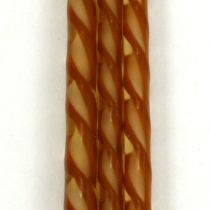 twisted cane of brown amber and white