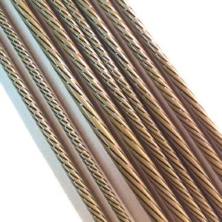 raku glass twisted with black stripes