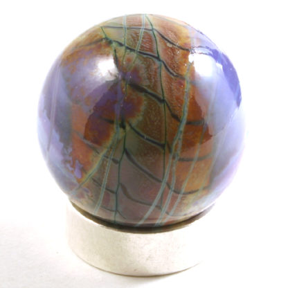 purple glass marble