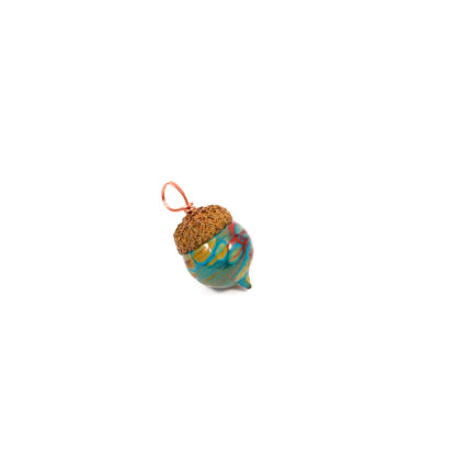 glass acorn pendant with real acorn cap