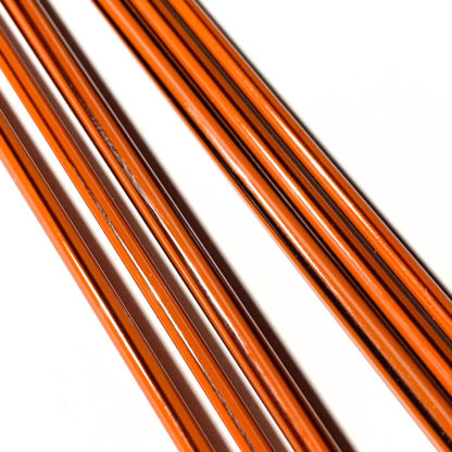 brown glass stringer with black lines