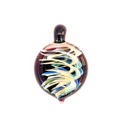 glass pendant with twisted helix design