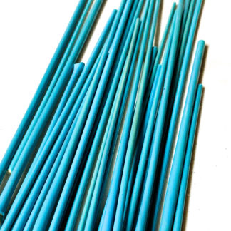 glass rods in turquoise